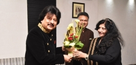 Pankaj Udhas Visited at Saturday Club
